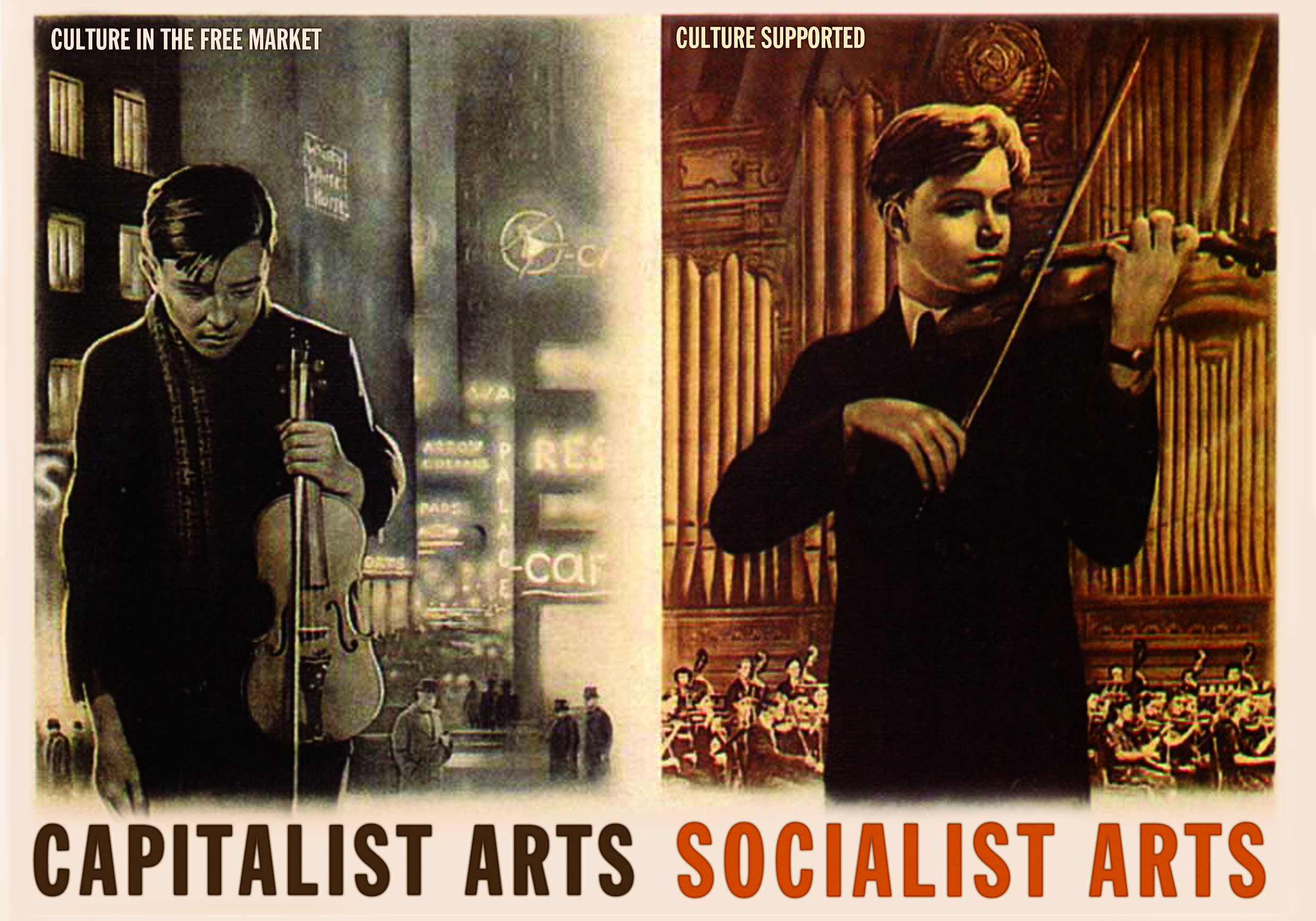 Capitalist vs Socialist Arts