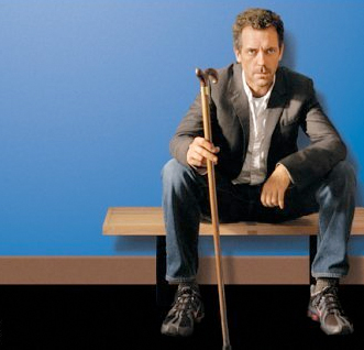 Hugh Laurie as Greg House in House, M.D.