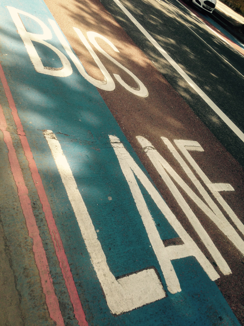 Boris's Cycle Super Highway Shared with Bus Lane