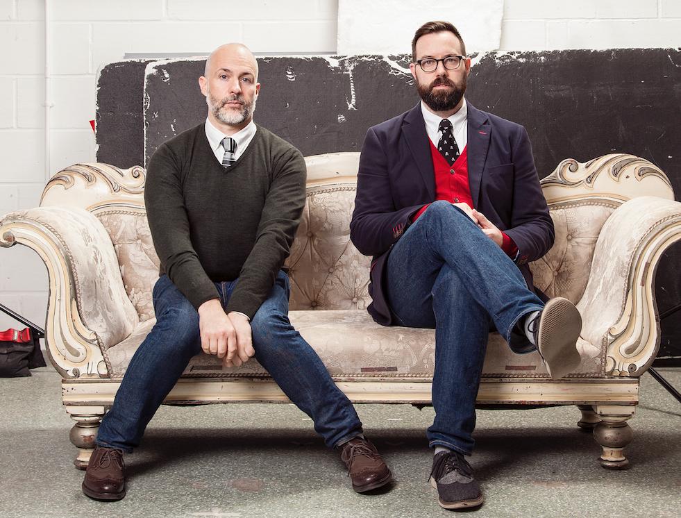 Simon Arrowsmith (right) raised £3,538 from 74 Backers on Kickstarter