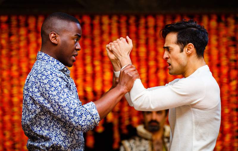 Demetrius (Ncuti Gatwa) and Helenus (Ankur Bahl)
