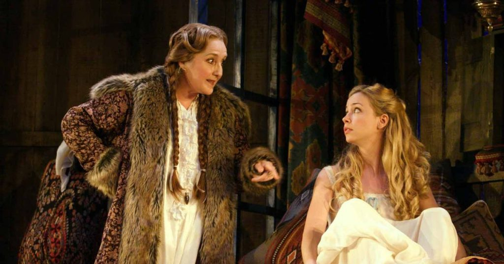 Sian Howard in Arms And The Man, a previous production for Theatr Clwyd