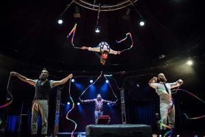 Barbu acrobatic troupe photocall on the Southbank - London
