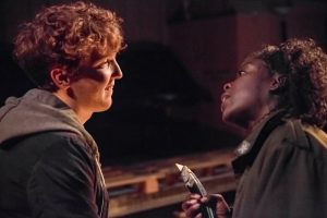 Cargo at the Arcola Theatre, Jack Gouldbourne and Debbie Korley, Photo by Mark Douet