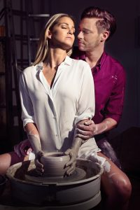 Ghost The Musical UK Tour - Sarah Harding as Molly and Andrew Moss as Sa...