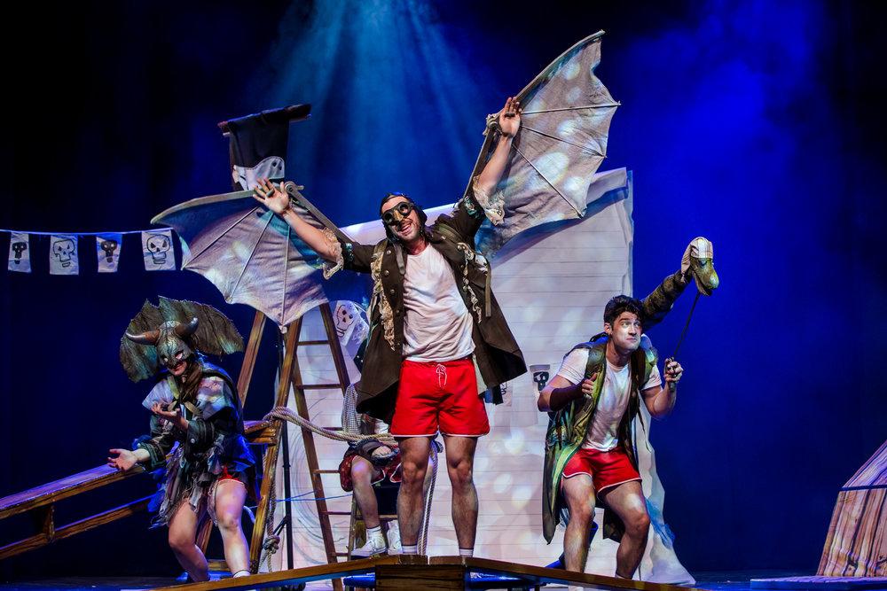 Les Enfants Terribles present Captin Flinn and the Pirate Dinosaurs 2 : The Magic Cutlass 05.08.16 . Pleasance Courtyard, Pleasance One Photo Credit: The Other Richard info@theotherrichard.com