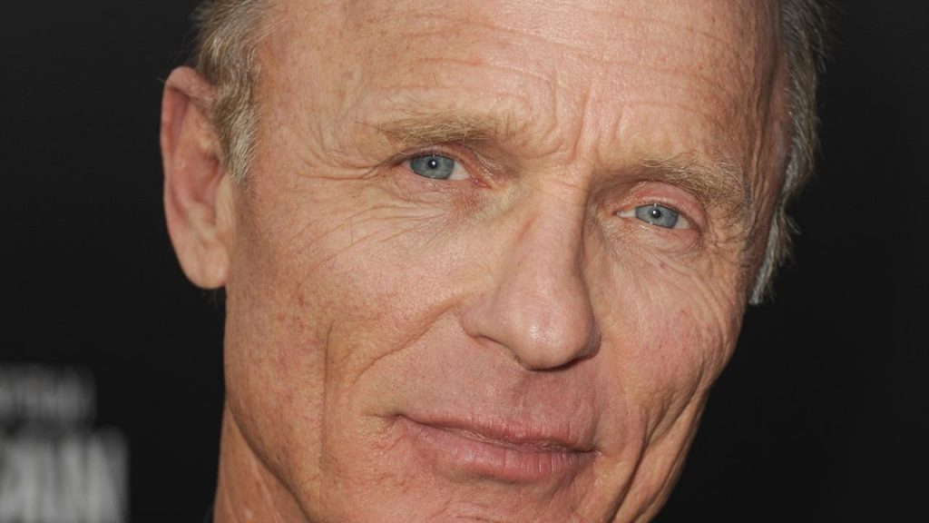 """HOLLYWOOD, CA - APRIL 22:  Actor Ed Harris arrives at the premiere of Paramount Pictures' """"Pain & Gain"""" at TCL Chinese Theatre on April 22, 2013 in Hollywood, California.  (Photo by Kevin Winter/Getty Images for Paramount Pictures)"""