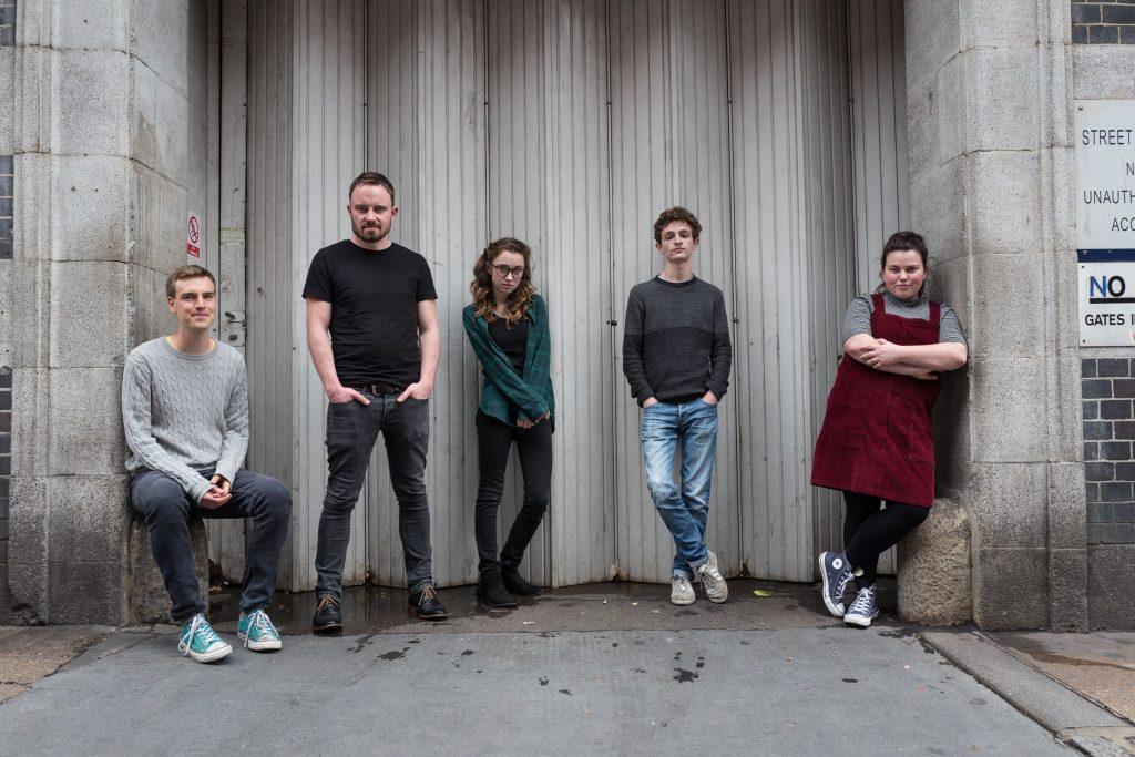 Tom Wells, James Grieve, Grace Hogg-Robinson (Holly), Andrew Reed (Ben) and Faye Christall (Megan). Broken Biscuits. © Matt Humphrey 2016 (7)