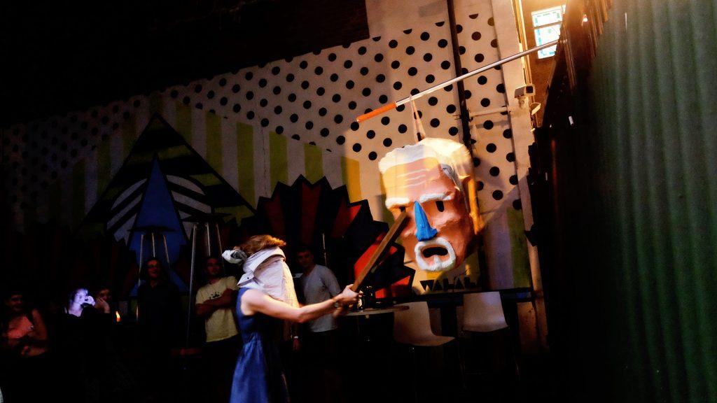 A Paul Hollywood Piñata receives a beating