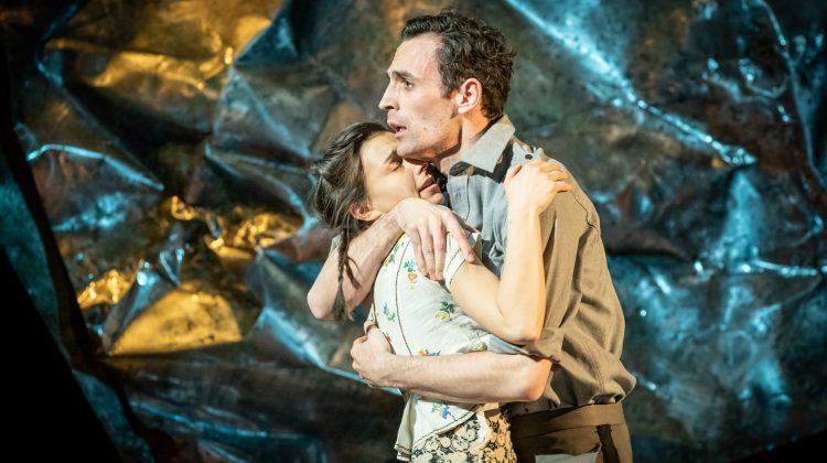 Madison Clare as Pelagia and Alex Mugnaioni as Captain Corelli
