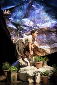 Luisa Guerreiro as Goat in Captain Corelli's Mandolin, credit Marc Brenner