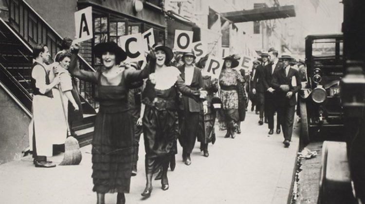 Actors striking in New York City in 1919