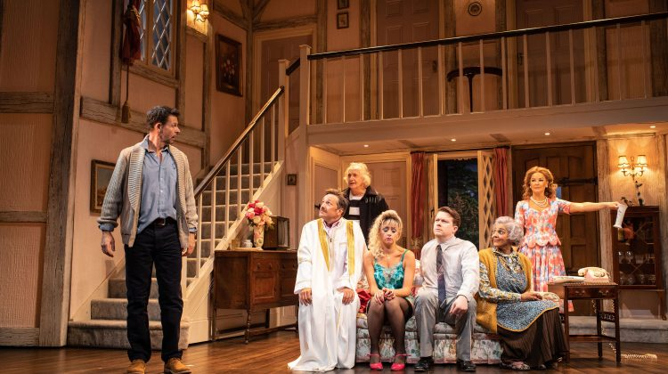 The cast of Noises Off at the Garrick Theatre. Photo: Helen Maybanks