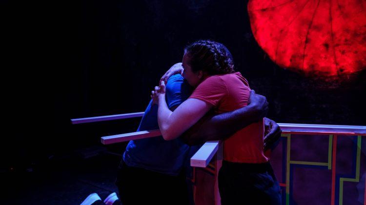 Rose and Simeon hug