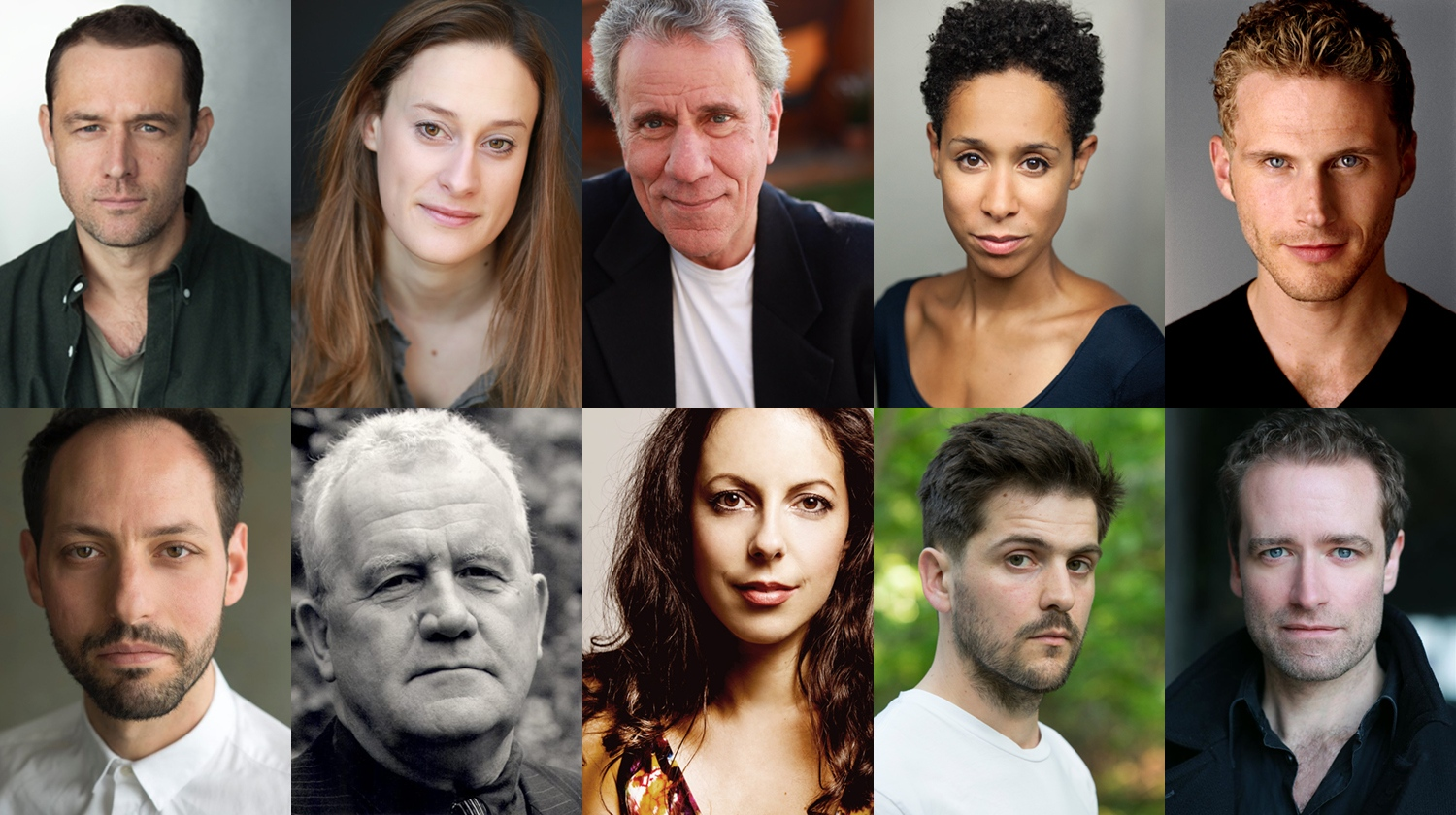 Headshots of the 10 actors who make up the Waiting for Lefty cast, they range in age, ethnicity and gender but they are all looking to camera.